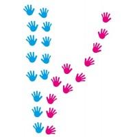 Gekleurde handen.