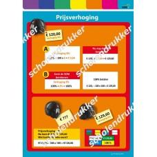 Poster Prijsverhoging - helm