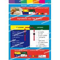 Poster Recept omrekenen.