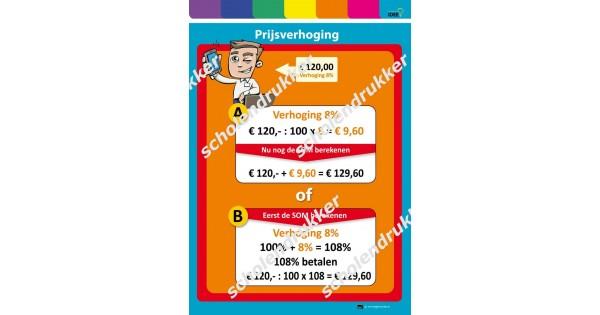 prijsverhogingnieuwe prijs berekenen