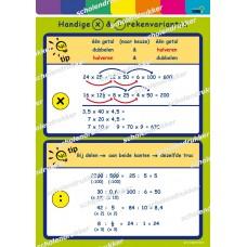 Rekenposter Handige x en : rekenvarianten.