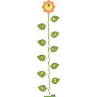 Hinkelbaan 1 tot 10 bloem - vloerstickers.