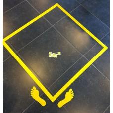 Metriek - Vierkante meter vloersticker.