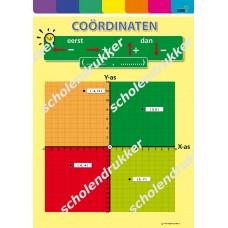 Poster Coordinaten X en Y as.