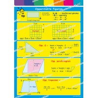 Wiskunde poster Oppervlakte figuren.